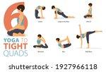 infographic 6 yoga poses for... | Shutterstock .eps vector #1927966118
