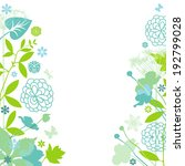 floral frame | Shutterstock .eps vector #192799028