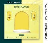 ramadan sale marketing banner....   Shutterstock .eps vector #1927991792