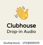 logo clubhouse with slogan drop ... | Shutterstock .eps vector #1928000045