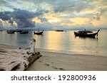sunrise at the beach | Shutterstock . vector #192800936