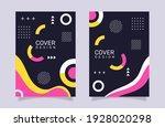 memphis design cover collection.... | Shutterstock .eps vector #1928020298