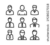 employee icon or logo isolated... | Shutterstock .eps vector #1928027018