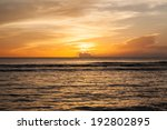 Beautiful Sunset Of The Pacifi...