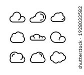 cloud icon or logo isolated...   Shutterstock .eps vector #1928033582