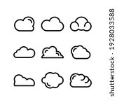 cloud icon or logo isolated...   Shutterstock .eps vector #1928033588