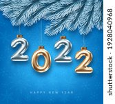 2022 new year card template... | Shutterstock .eps vector #1928040968