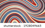 an abstract flowing wave of red ... | Shutterstock . vector #1928049665