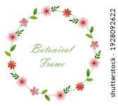 flower frame illustration....   Shutterstock .eps vector #1928092622