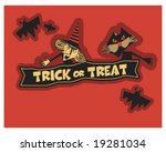 trick or treat witch and cat | Shutterstock .eps vector #19281034