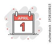 cartoon colored april 1 fool...