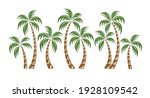 palm trees isolated on white... | Shutterstock .eps vector #1928109542