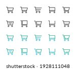 mega set of 20 trolley icons...