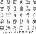 food line icon set   beer  milk ... | Shutterstock .eps vector #1928111435