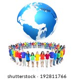 colourful world people in circle | Shutterstock . vector #192811766