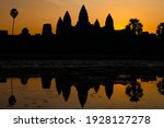 The Sun Sets Over The Angkor...