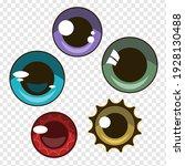 set of vector eyes for anime... | Shutterstock .eps vector #1928130488