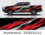 car wrap graphic racing... | Shutterstock .eps vector #1928131112