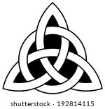 celtic trinity  triquetra  knot | Shutterstock . vector #192814115