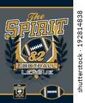 the spirit football sports... | Shutterstock .eps vector #192814838