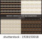 brown christmas fair isle... | Shutterstock .eps vector #1928153018