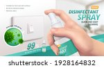 disinfectant spray ad template  ... | Shutterstock .eps vector #1928164832