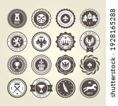 emblems  blazons and heraldic... | Shutterstock .eps vector #1928165288