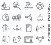 set of headhunting icon.... | Shutterstock .eps vector #1928172572