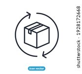 return box icon. delivery...   Shutterstock .eps vector #1928172668