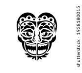 tiki face  mask or totem.... | Shutterstock .eps vector #1928180015