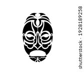 tiki face  mask or totem.... | Shutterstock .eps vector #1928189258