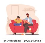 angry dad character sit on... | Shutterstock .eps vector #1928192465