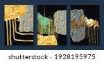 luxury gold wallpaper.  black... | Shutterstock .eps vector #1928195975