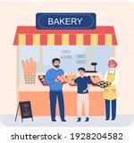 Bakery Shop Building Facade ...