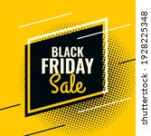 black friday yellow and black... | Shutterstock .eps vector #1928225348