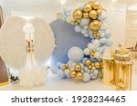 Decor With Balloons Of Blue  ...