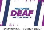 national deaf history month.... | Shutterstock .eps vector #1928241032