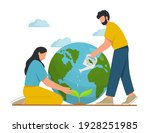 young people take care the... | Shutterstock .eps vector #1928251985