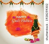 happy gudi padwa holiday...   Shutterstock .eps vector #1928259302