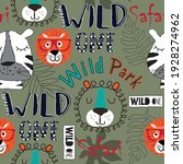 Wild Animals Seamless Pattern....