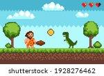 pixel art background with...   Shutterstock .eps vector #1928276462