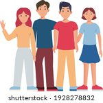 group of people illustration... | Shutterstock .eps vector #1928278832
