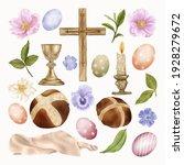 religious easter clipart cross... | Shutterstock .eps vector #1928279672