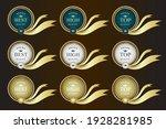 gold ribbon promotion label... | Shutterstock .eps vector #1928281985