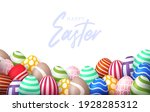 easter 2021 poster with empty... | Shutterstock .eps vector #1928285312