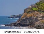 hut in beach el tunco   el... | Shutterstock . vector #192829976