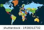 world map color vector modern.... | Shutterstock .eps vector #1928312732