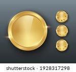 award golden blank medals 3d... | Shutterstock .eps vector #1928317298
