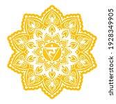 manipura third chakra coloring...   Shutterstock .eps vector #1928349905