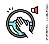 driver honking color icon... | Shutterstock .eps vector #1928350508